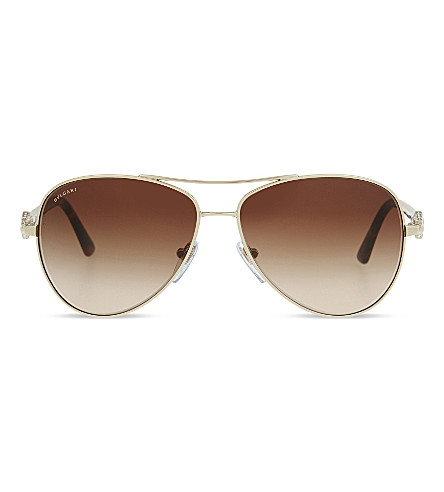 BVLGARI BV6073 Aviator sunglasses (Pale+gold