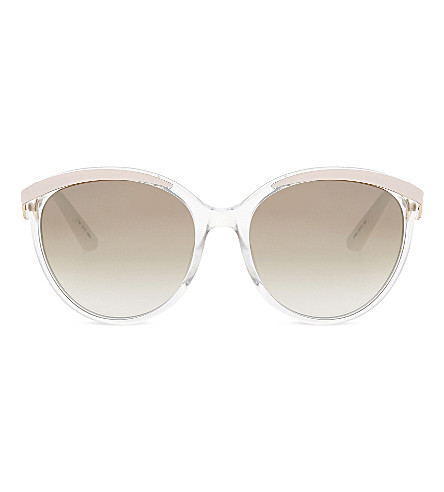 DIOR Metal Eyes round-frame sunglasses (Pink+light