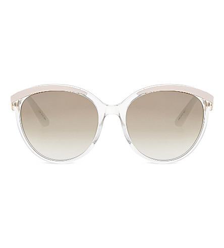 DIOR Metal Eyes round-frame sunglasses (Pink+light