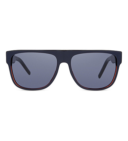 DIOR Black Tie square-frame sunglasses (Blue+red