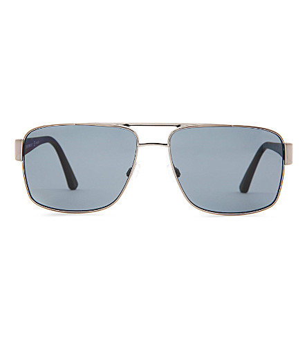 EMPORIO ARMANI D-frame sunglasses (Gunmetal