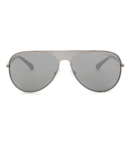 EMPORIO ARMANI Aviator-style sunglasses (Gunmetal