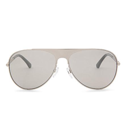 EMPORIO ARMANI Aviator-style sunglasses (Silver