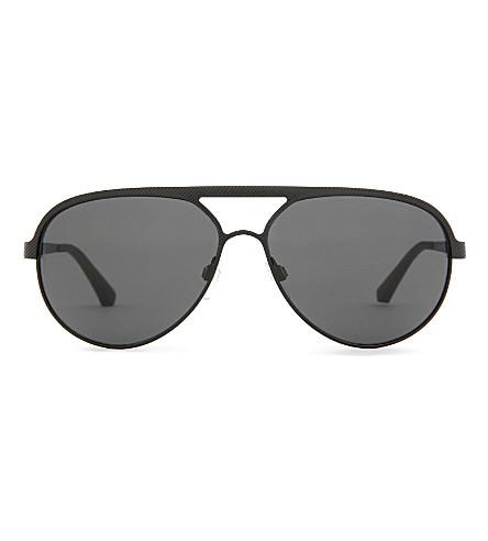 EMPORIO ARMANI Aviator-style sunglasses (Black