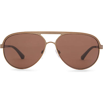 EMPORIO ARMANI Aviator-style sunglasses (Brown