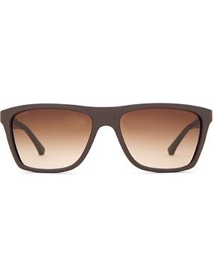 EMPORIO ARMANI Matt Wayfarer-style sunglasses