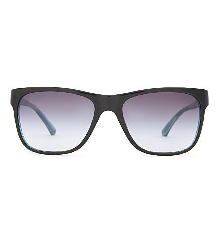 EMPORIO ARMANI Wayfarer-style sunglasses (Black
