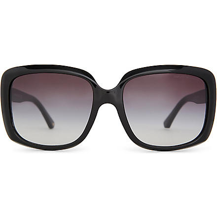 EMPORIO ARMANI 0EA4008 Black square-framed sunglasses (Black