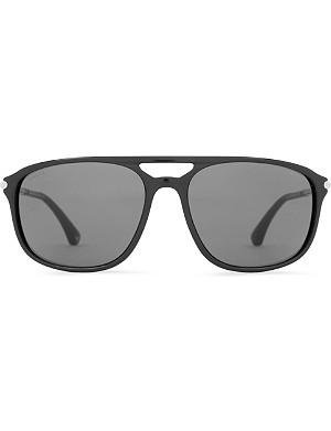 EMPORIO ARMANI Black Aviator-style sunglasses