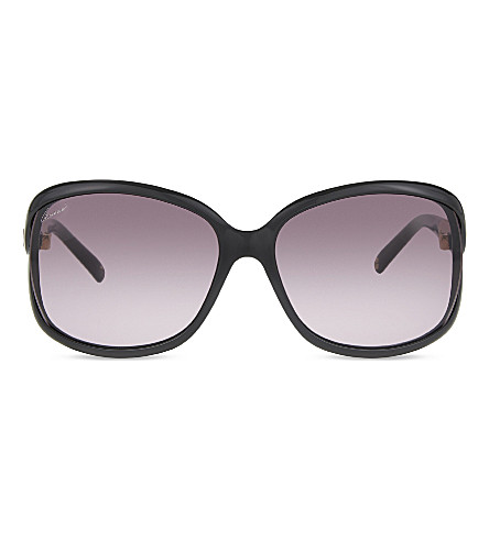 GUCCI GG 3671/S square frame sunglasses (Black+shiny