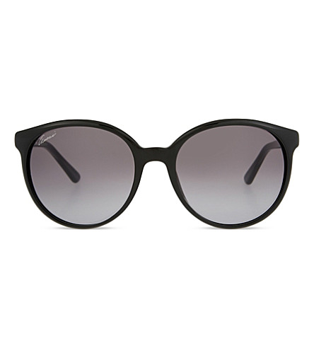 GUCCI Gg3697 round-frame sunglasses (Black+clear