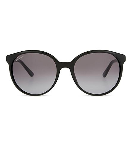 GUCCI Gg3697 round-frame sunglasses (Black+clear
