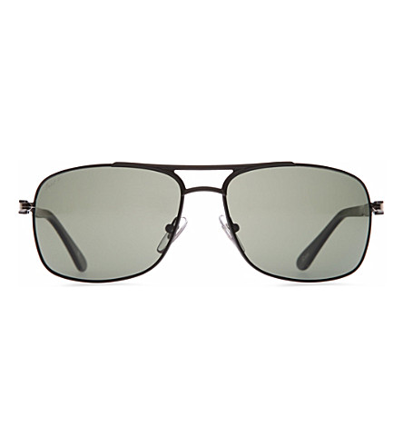 PERSOL Crystal aviator sunglasses (Matte+black