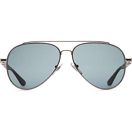 PERSOL Gunmetal aviator sunglasses (Gunmetal