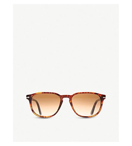 PERSOL Suprema tortoiseshell round-frame sunglasses (Spotted+havana