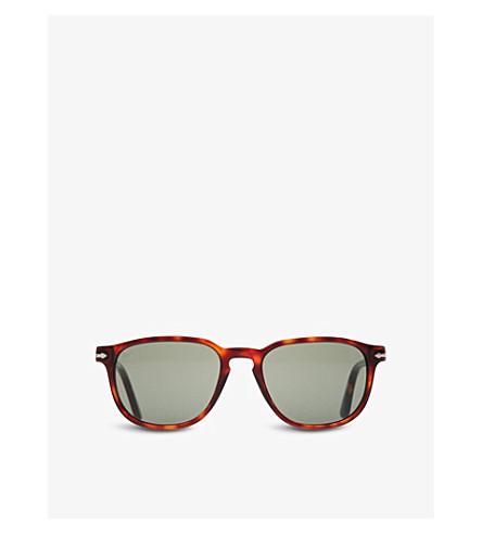 PERSOL Suprema tortoiseshell round-frame sunglasses (Havana