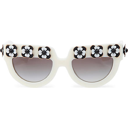 PRADA Deluxe Poeme D-frame sunglasses (Poeme+ivory