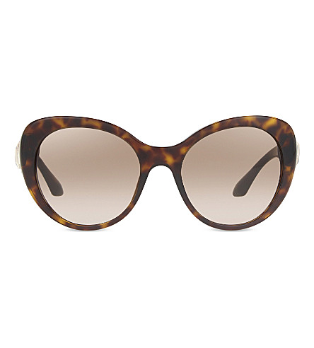 PRADA AU3D0 cat-eye frame sunglasses (Havana