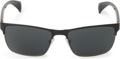Prada Half Frame Glasses : PRADA - Half-frame sunglasses Selfridges.com