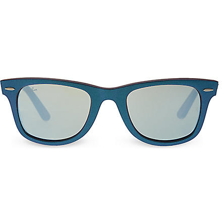 RAY-BAN Blue wayfarer sunglasses with mirrored lenses RB2140 (Blue