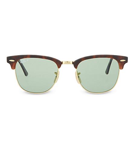 RAY-BAN Tortoiseshell clubmaster sunglasses RB3016 51 (Havana