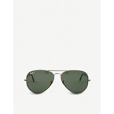 RAY-BAN Original aviator metal-frame sunglasses RB3025 (Black
