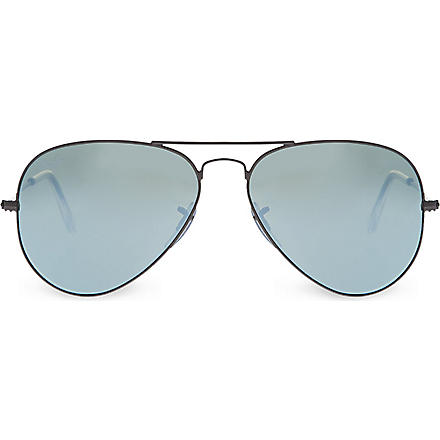 RAY-BAN Aviator RB3025 metal-frame sunglasses (Green