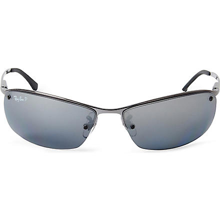 RAY-BAN Frameless polarized sunglasses