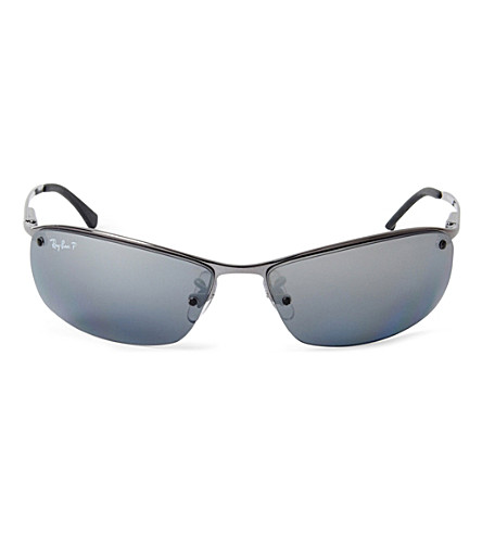 RAY-BAN Frameless polarised sunglasses RB3183 63