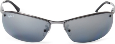 RAY-BAN - Frameless polarised sunglasses RB3183 63 ...