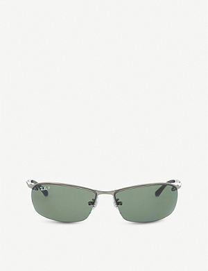RAY-BAN Wrap-around rectangular sunglasses RB3183 00