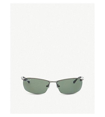 RAY-BAN Wrap-around rectangular sunglasses RB3183 00 (Gunmetal