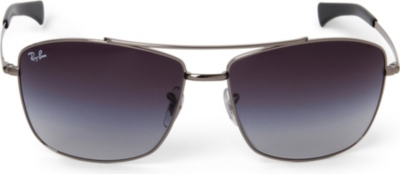 Ray Ban Square Frame Glasses : RAY-BAN - Polarized square-frame sunglasses Selfridges.com