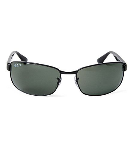 RAY-BAN D-frame polarized sunglasses