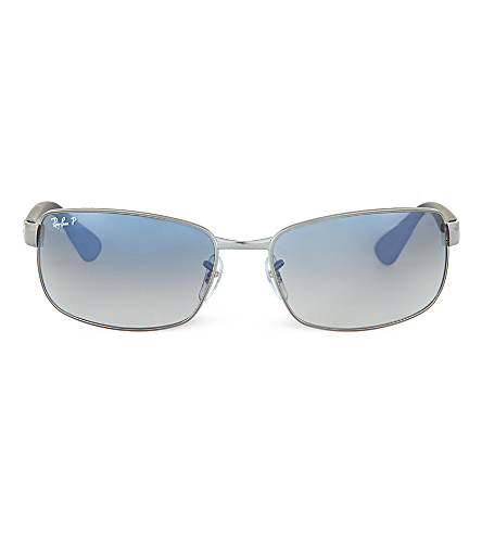 RAY-BAN Polarised D-frame sunglasses RB3478 63