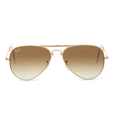 RAY-BAN Gold aviators (Arista