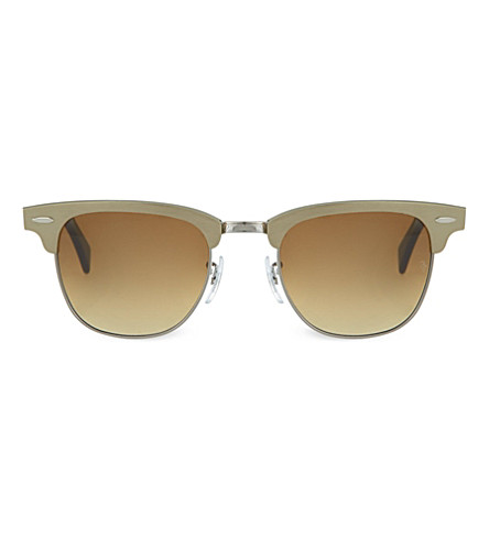 RAY-BAN Brushed bronze clubmaster sunglasses RB3507 49 (Brushed bronze