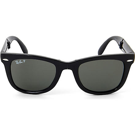 RAY-BAN Folding Wayfarer polarized sunglasses