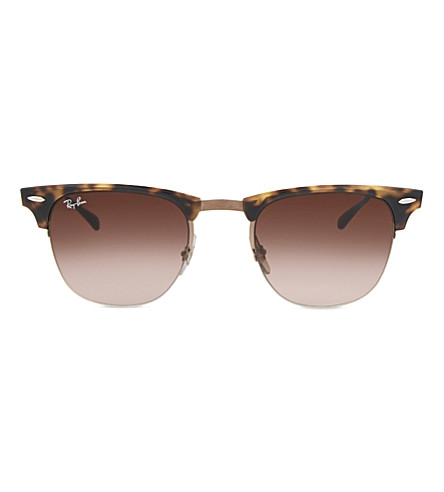 RAY-BAN Rb8056 clubmaster square-frame sunglasses (Shiny+brown