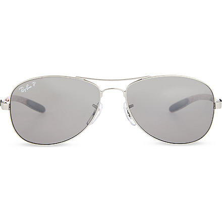 RAY-BAN Tech polarized round-frame sunglasses
