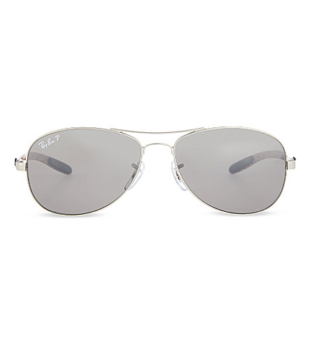 RAY-BAN Tech polarised aviator inspired sunglasses RB8301 56