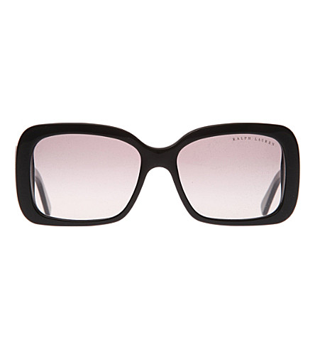 RALPH LAUREN Logo square-frame sunglasses (Black