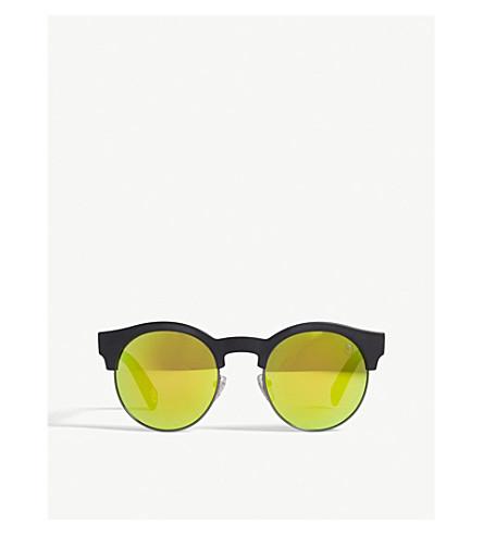 BAPE BS13038 round-frame sunglasses (Black+matte