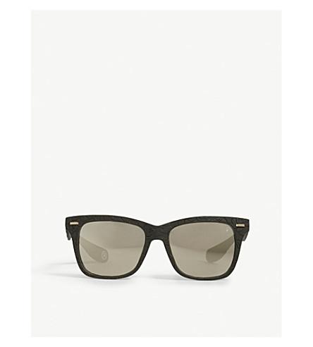 BAPE BS13030 rectangle-frame sunglasses (Green