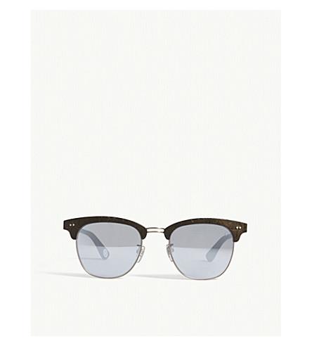 BAPE BS1304 rectangle-frame sunglasses (Black+matte