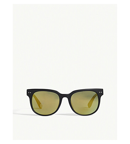 BAPE BS13046 rectangle-frame sunglasses (Brown+green