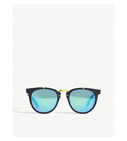 BAPE BS13044 round-frame sunglasses (Black