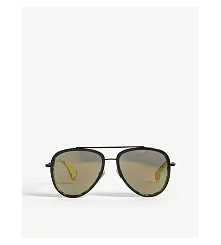 BAPE BS13028 pilot-frame sunglasses (Black