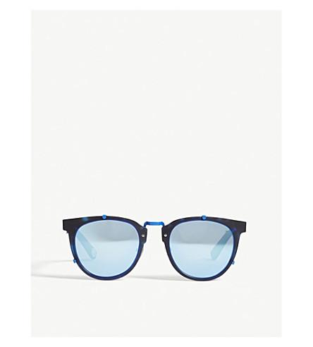 BAPE BS13044 round-frame sunglasses (Blue