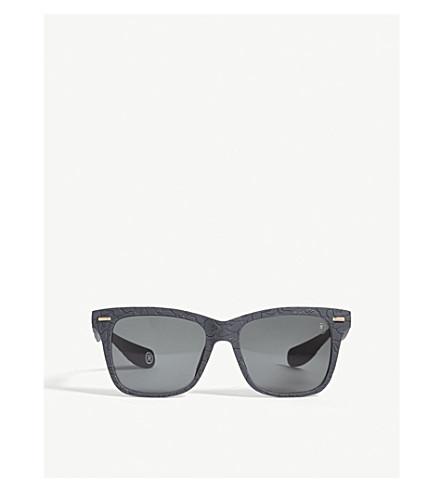 BAPE BS13030 rectangle-frame sunglasses (Grey